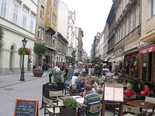 terrassen in Boedapest